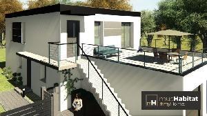 Maison A Toit Plat Avec Deux Appartement De 70 M2 Dont Un Restant En Rez De