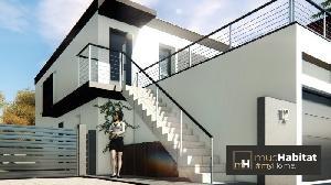 Magnifique Maison A Toit Plat Avec Deux Appartements De 70 M2 Avec Garage Dont