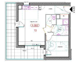 A découvrir ce superbe T2 en Attique de 50 m² dans…