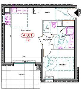 Appartement neuf de 50 m² (séjour/cuisine de 23 m², 1…