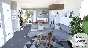 ST JEAN DE SOUDAIN, Belle villa récente en duplex avec…
