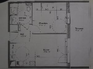T2 39 m²/parking/13.5m²terrasse